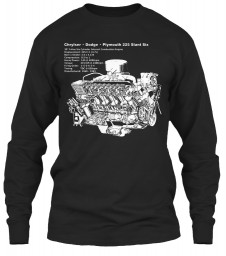 225 Slant-6 Cutaway and Specs Black Gildan 6.1oz Long Sleeve Tee $25.99