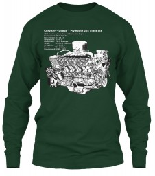 225 Slant-6 Cutaway and Specs Forest Green Gildan 6.1oz Long Sleeve Tee $25.99