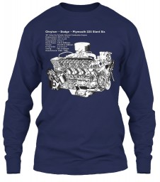 225 Slant-6 Cutaway and Specs Navy Gildan 6.1oz Long Sleeve Tee $25.99