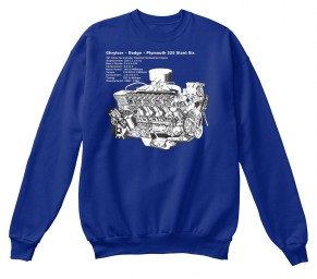 225 Slant-6 Cutaway and Specs Deep Royal Hanes Unisex Crewneck Sweatshirt $33.99