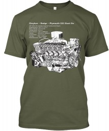 225 Slant-6 Cutaway and Specs Military Green Next Level Tri-Blend Tee $25.99