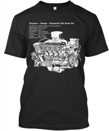 225 Slant-6 Cutaway and Specs Vintage Black Next Level Tri-Blend Tee $25.99