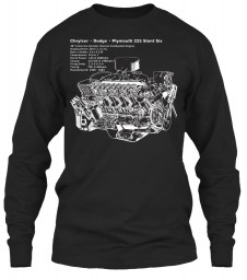 225 Slant Six Cutaway Black Gildan 6.1oz Long Sleeve Tee $25.99