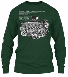 225 Slant Six Cutaway Forest Green Gildan 6.1oz Long Sleeve Tee $25.99