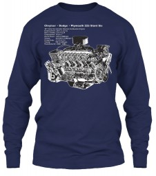 225 Slant Six Cutaway Navy Gildan 6.1oz Long Sleeve Tee $25.99