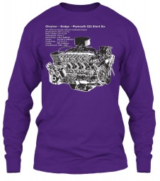 225 Slant Six Cutaway Purple Gildan 6.1oz Long Sleeve Tee $25.99