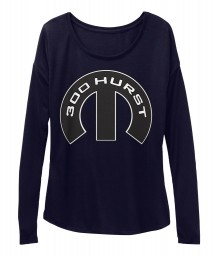 300 Hurst Mopar M Midnight BELLA+CANVAS Women's  Flowy Long Sleeve Tee $43.99