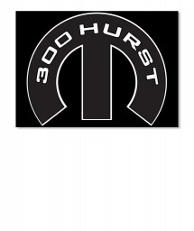 300 Hurst Mopar M Sticker
