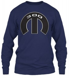300 Mopar M Navy Gildan 6.1oz Long Sleeve Tee $25.99
