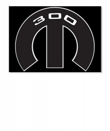 300 Mopar M Sticker