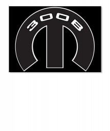 300B Mopar M Sticker