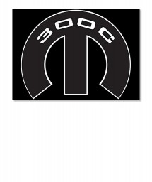 300C Mopar M Sticker