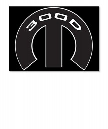 300D Mopar M Sticker