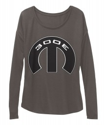 300E Mopar M Dark Grey Heather BELLA+CANVAS Women's  Flowy Long Sleeve Tee $43.99