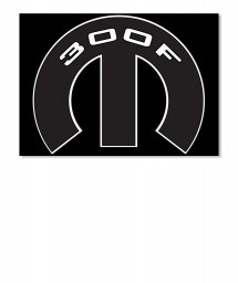 300F Mopar M Sticker