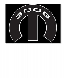 300G Mopar M Sticker