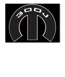300J Mopar M Sticker