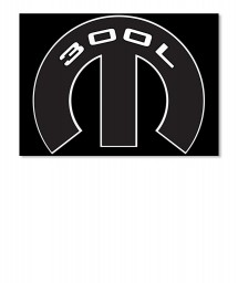 300L Mopar M Sticker