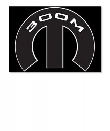 300M Mopar M Sticker