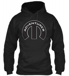 Adventurer Mopar M Black Gildan 8oz Heavy Blend Hoodie $38.99