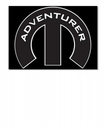 Adventurer Mopar M Sticker