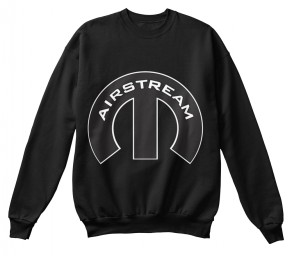 Airstream Mopar M Black Hanes Unisex Crewneck Sweatshirt $33.99