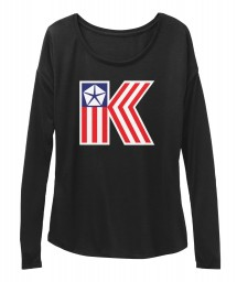 American Chrysler K-Car  Black BELLA+CANVAS Women's  Flowy Long Sleeve Tee $43.99