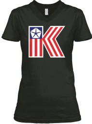American Chrysler K-Car  Black BELLA+CANVAS Women's V-Neck Tee $23.99