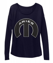 Aries Mopar M Midnight BELLA+CANVAS Women's  Flowy Long Sleeve Tee $43.99