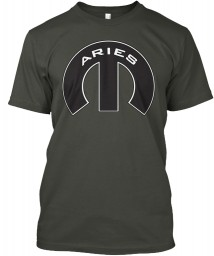Aries Mopar M Smoke Gray Hanes Tagless Tee $21.99