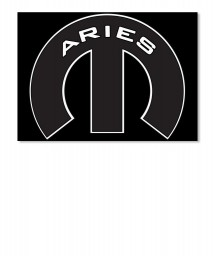 Aries Mopar M Landscape Sticker $6.00