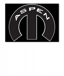 Aspen Mopar M Sticker