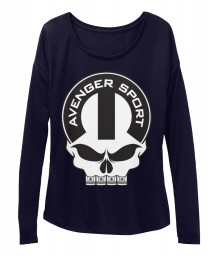 Avenger Sport Mopar Skull BELLA+CANVAS Women's  Flowy Long Sleeve Tee