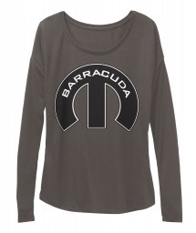 Barracuda Mopar M Dark Grey Heather BELLA+CANVAS Women's  Flowy Long Sleeve Tee $43.99