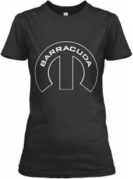 Barracuda Mopar M Black Gildan Women's Relaxed Tee $21.99