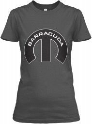 Barracuda Mopar M Charcoal Gildan Women's Relaxed Tee $21.99
