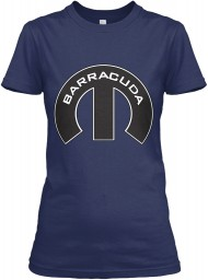 Barracuda Mopar M Navy Gildan Women's Relaxed Tee $21.99