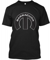 Barracuda Mopar M Black Hanes Tagless Tee $21.99