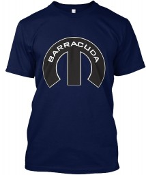 Barracuda Mopar M Navy Hanes Tagless Tee $21.99