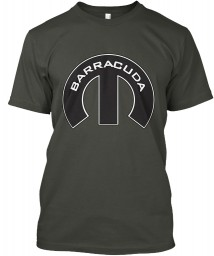 Barracuda Mopar M Smoke Gray Hanes Tagless Tee $21.99