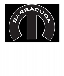 Barracuda Mopar M Landscape Sticker $6.00