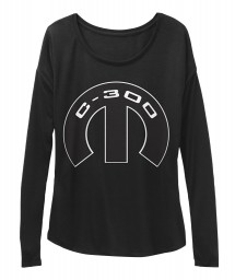 C-300 Mopar M Black  Women's  Flowy Long Sleeve Tee $43.99
