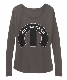 C-300 Mopar M Dark Grey Heather BELLA+CANVAS Women's  Flowy Long Sleeve Tee $43.99