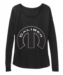Caliber Mopar M Black BELLA+CANVAS Women's  Flowy Long Sleeve Tee $43.99