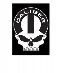 Caliber Mopar Skull Portrait Sticker $6.00