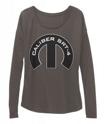 Caliber SRT-4 Mopar M Dark Grey Heather BELLA+CANVAS Women's  Flowy Long Sleeve Tee $43.99