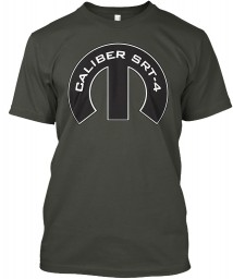 Caliber SRT-4 Mopar M Smoke Gray Hanes Tagless Tee $21.99