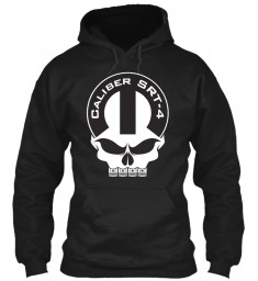 Caliber SRT-4 Mopar Skull Black Gildan 8oz Heavy Blend Hoodie $38.99
