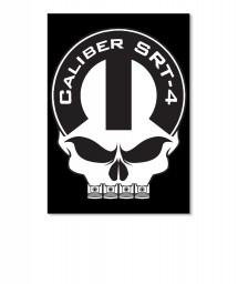 Caliber SRT-4 Mopar Skull Portrait Sticker $6.00