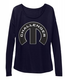 Challenger Mopar M Midnight BELLA+CANVAS Women's  Flowy Long Sleeve Tee $43.99